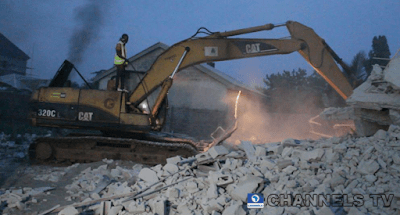 PHOTOS: 8 Storey Building Collapses In Imo