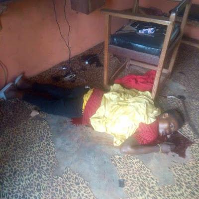 Disturbing Photos: Barber Killed Inside His Shop In Nsukka, Enugu