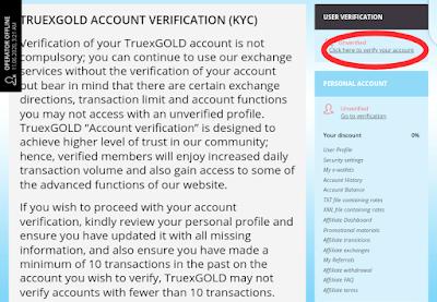 How to verify my account kyc on TruexGold