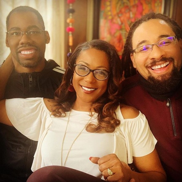 Woman Happily Show Off Her Two Husbands, Says They Are Peacefully Together (Photos)