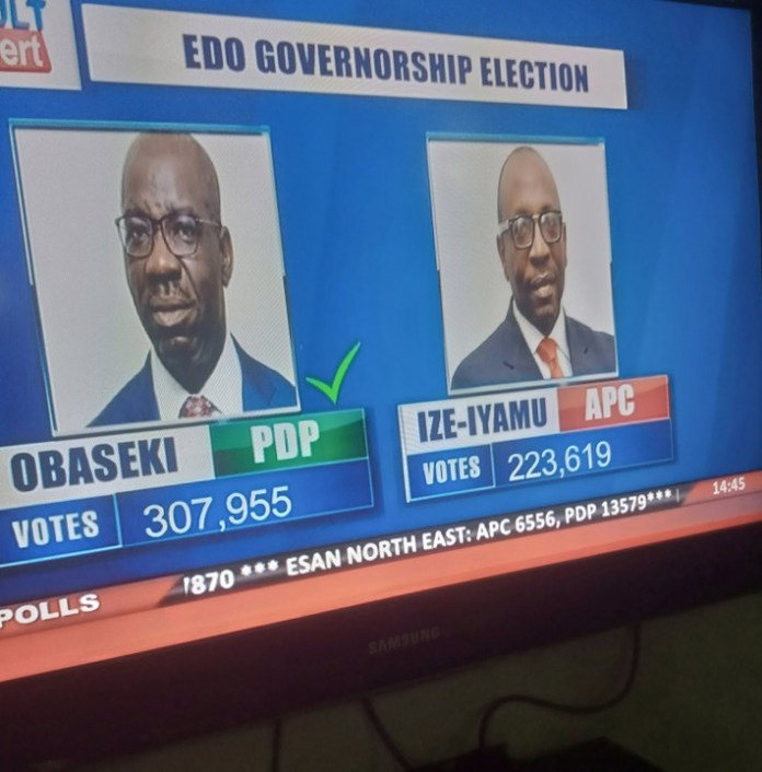 INEC Declares Obaseki Winner Of Edo Governorship Election 2020