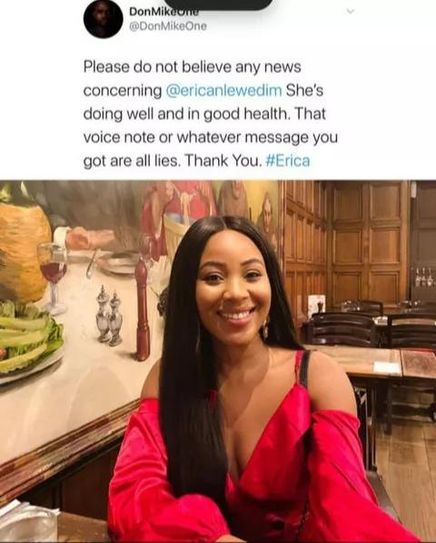 BbNaija: GoFundMe For Erica Fundraiser Page, See Reactions 1