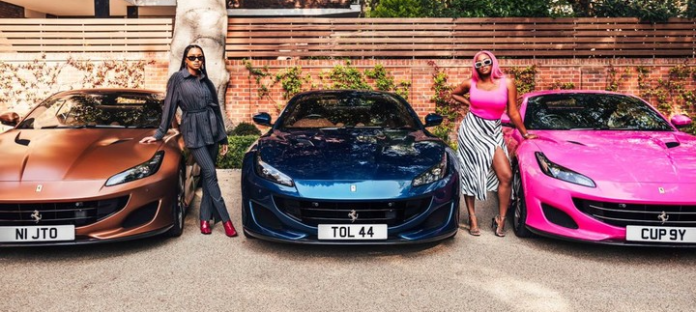 Femi Otedola Buys 3 Ferrari Portofino Whips For His 3 Daughters