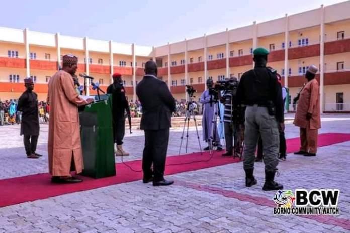 PHOTOS: Borno Gov. Zulum Commissions Mega School He Built In Maiduguri