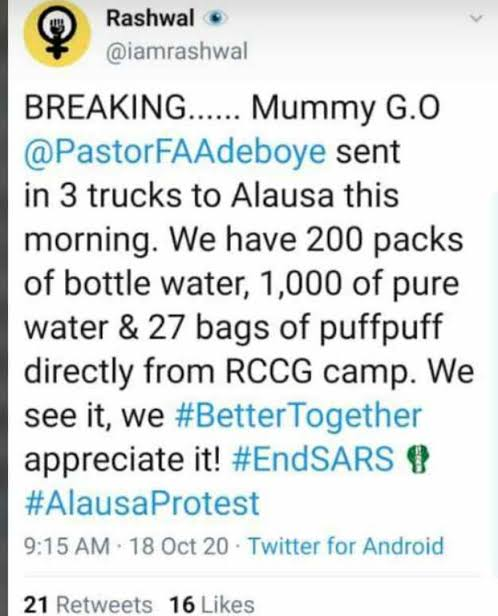 [VIDEO] Pastor Adeboye Son Leads #EndSARS Service Outside Lagos Government House