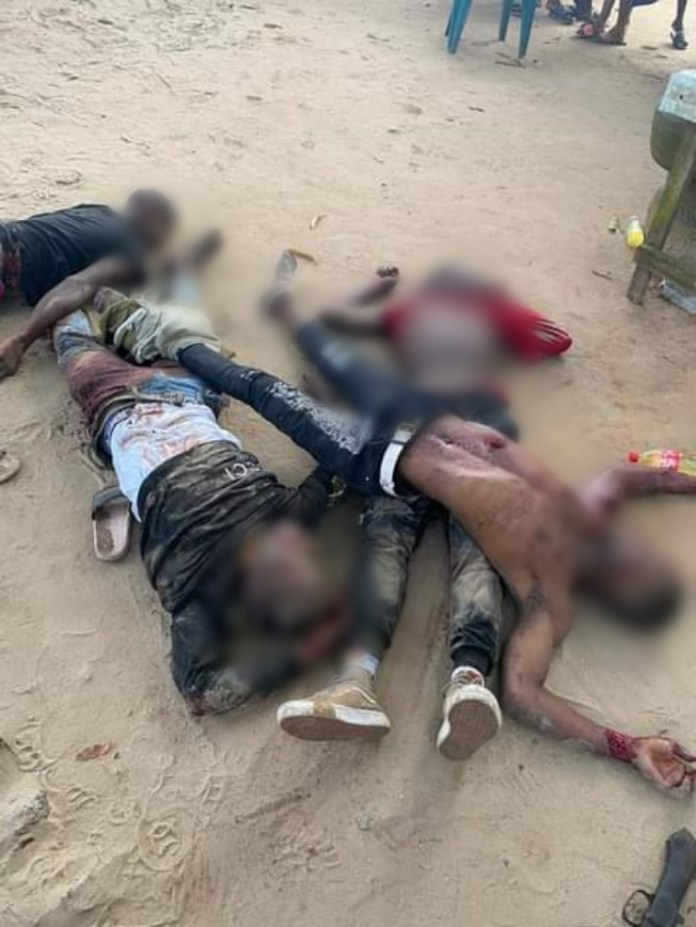 Soldiers Gun Down 4 Armed Robbers In Delta State (Photos)