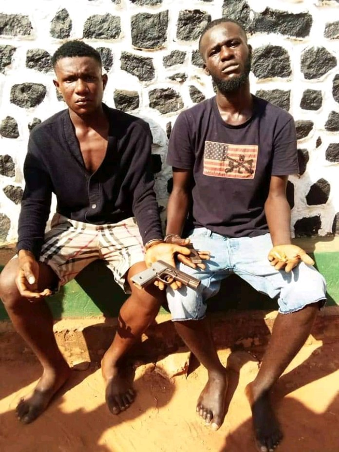 Police Arrests 2 Suspects For Possession Of Firearms And Ammunitions (Photos)