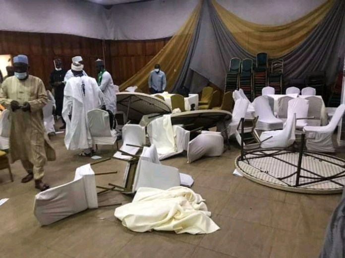 Hoodlums Attacked And Destroy Venue Of CNG Security Conference (Photos)