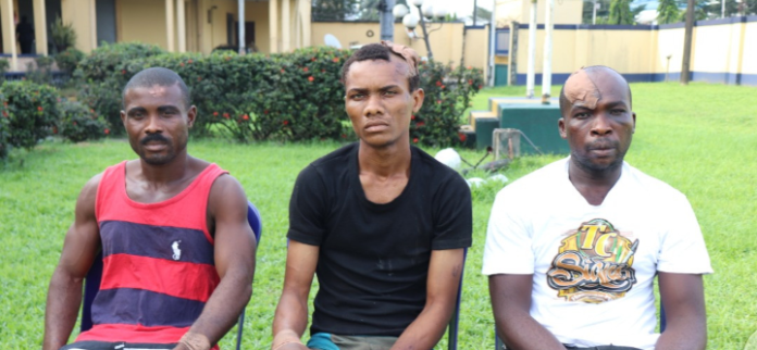 3 Suspects Arrested For Attacking Wike Father's Church Claim They're IPOB Members (Photos)