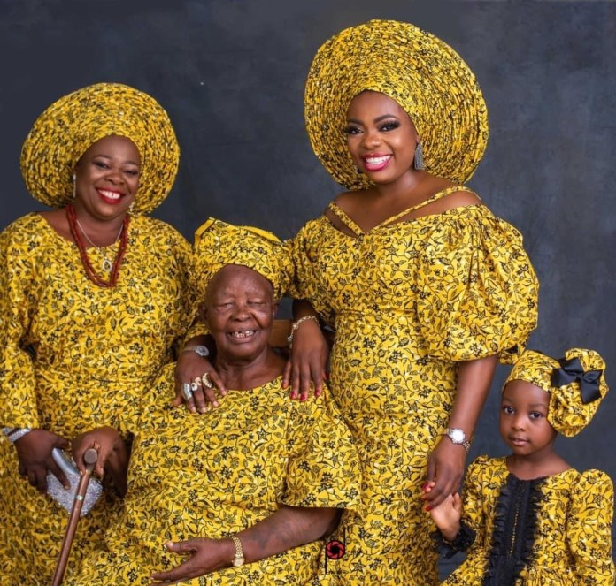 Wow!!! Checkout Beautiful Four Generations Photos Of A Nigerian Family