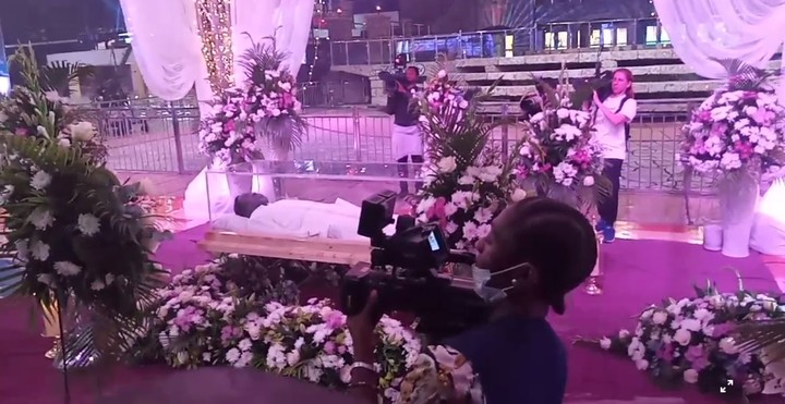 See Photos As Body Of TB Joshua Arrives Synagogue Church For Lying-in-state