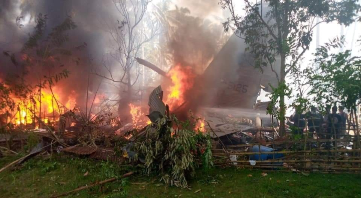 BREAKING: Military Plane Carrying 85 People Crash In Philippines (Graphic Photo)