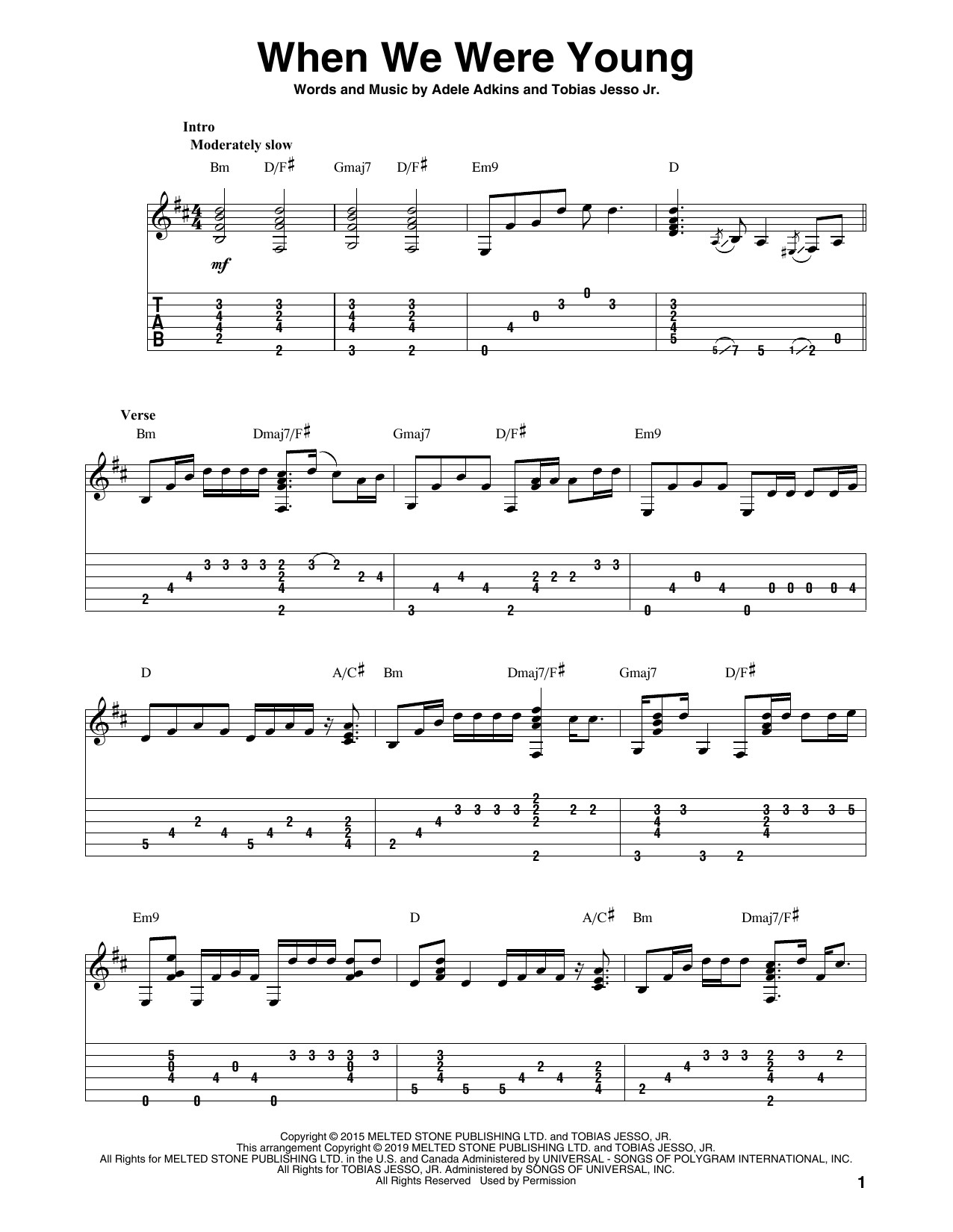 When We Were Young Adele Chords : young, adele, chords, Adele,