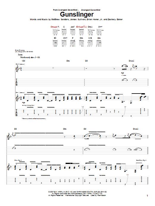 Chord Avenged Sevenfold : chord, avenged, sevenfold, Avenged, Sevenfold,