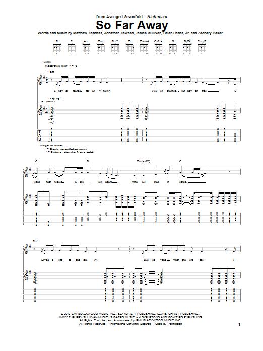 Chord Avenged Sevenfold : chord, avenged, sevenfold, Avenged, Sevenfold, Away
