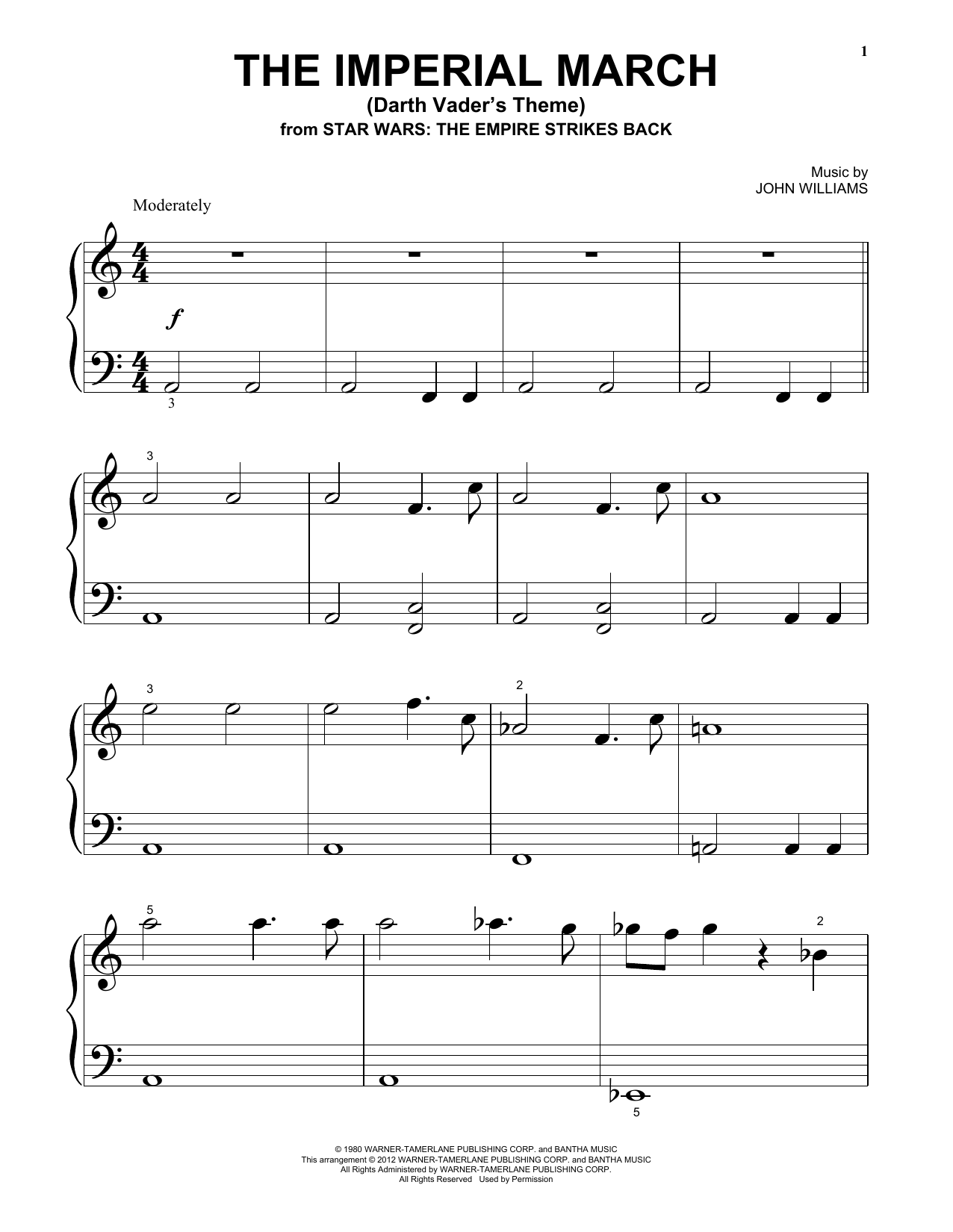 Imperial March Notes : imperial, march, notes, Williams, Imperial, March, (Darth, Vader's, Theme)