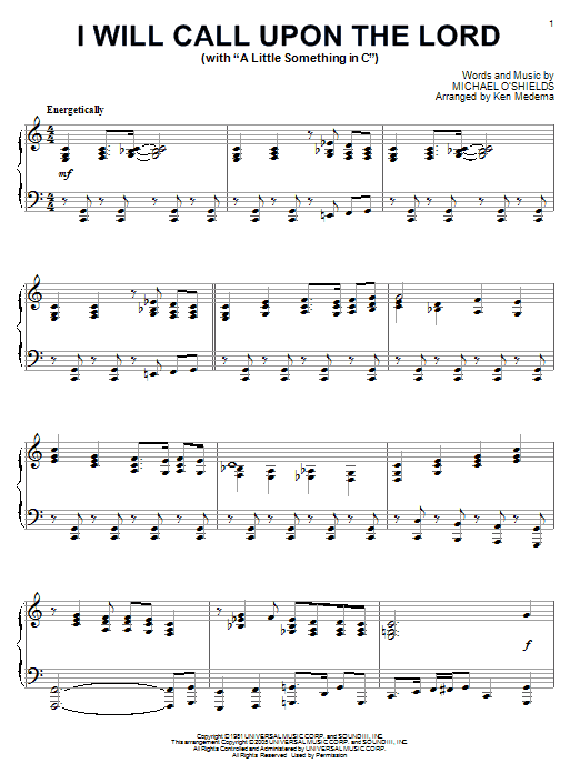 Call Upon The Lord Lyrics : lyrics, Michael, O'Shields, Lord