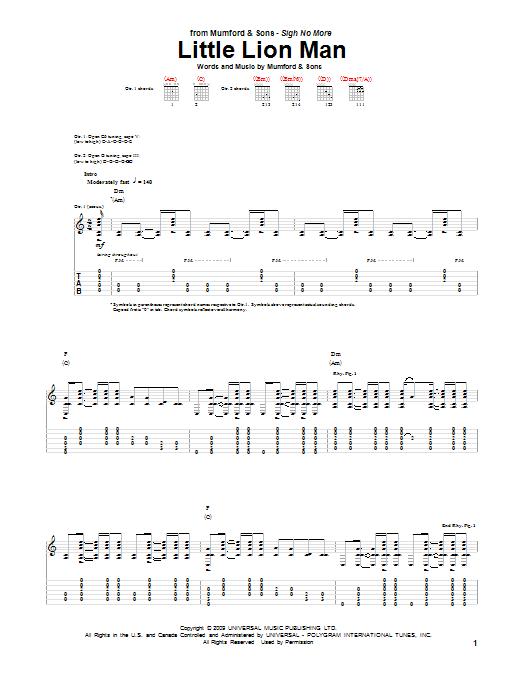 Little Lion Man Ukulele Chords : little, ukulele, chords, Mumford,