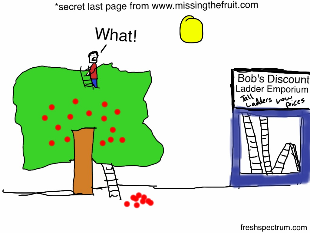 Secret Last Page from Matt Keene's Missing the Fruit for the Ladder