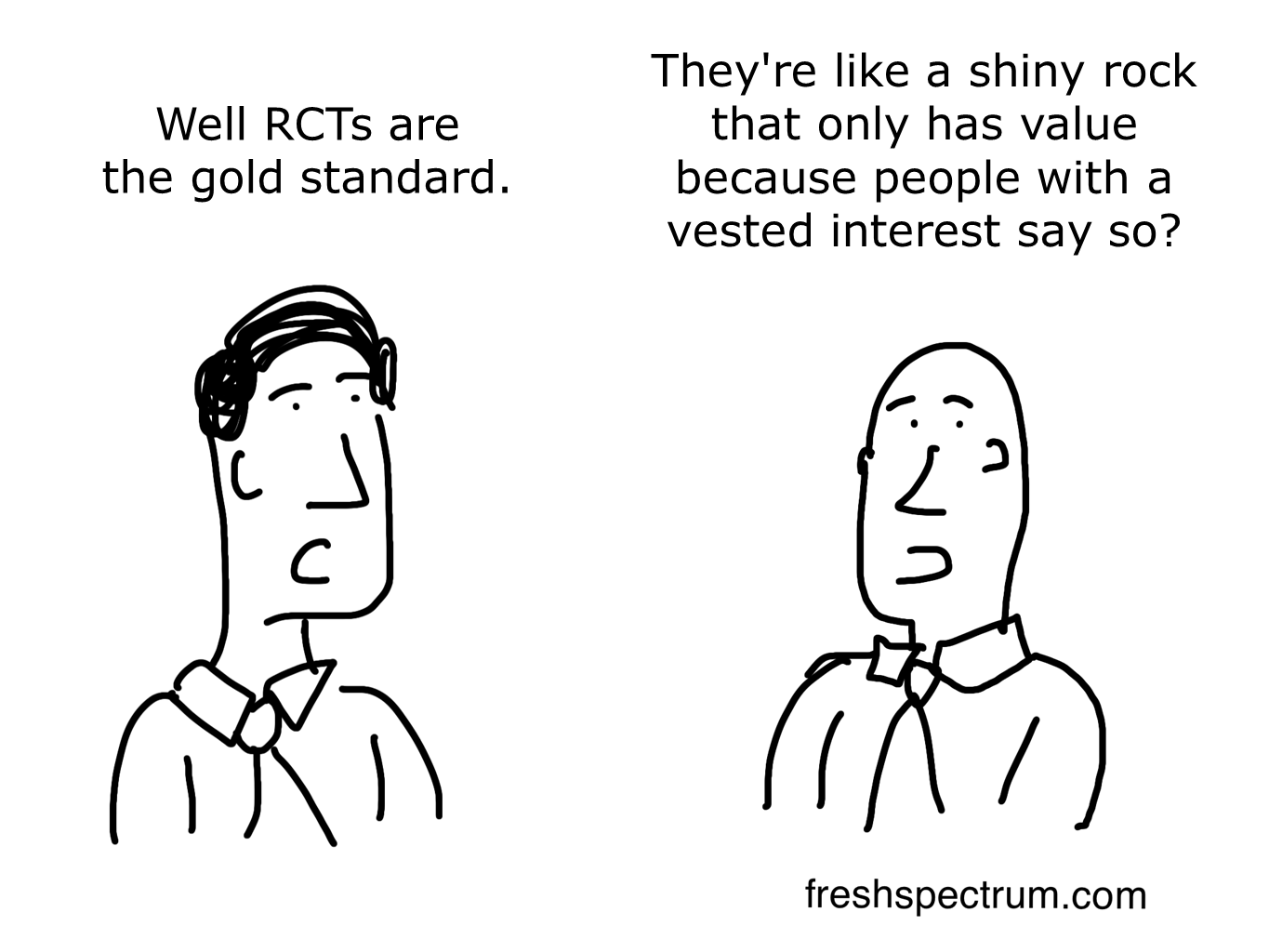 6 RCT related cartoons on the gold standard and just who