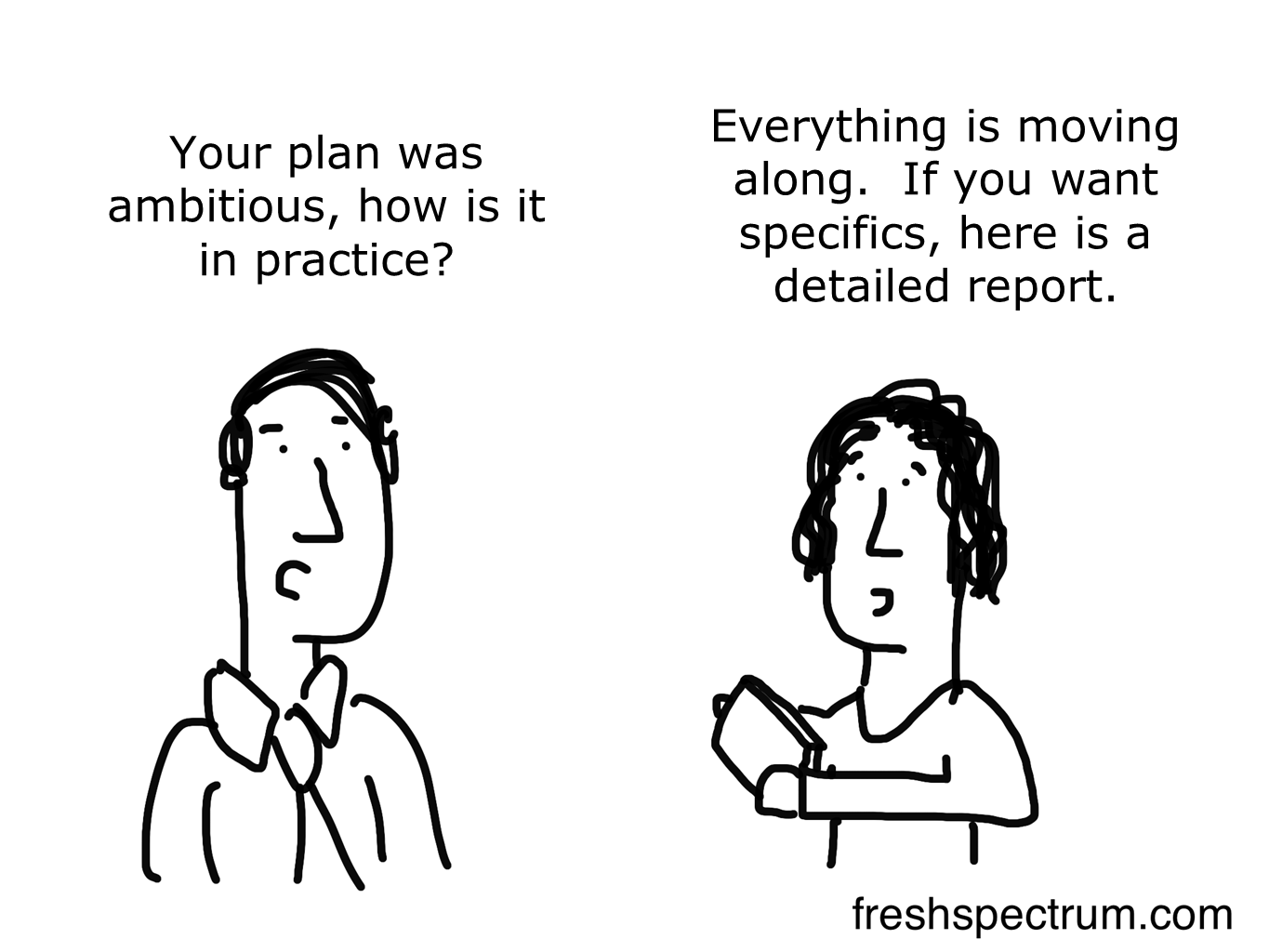 Why Evaluate: 5 cartoons inspired by comments