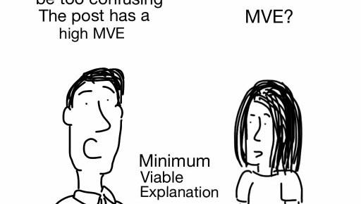 Minimum Viable Explanation – cartoon flashback