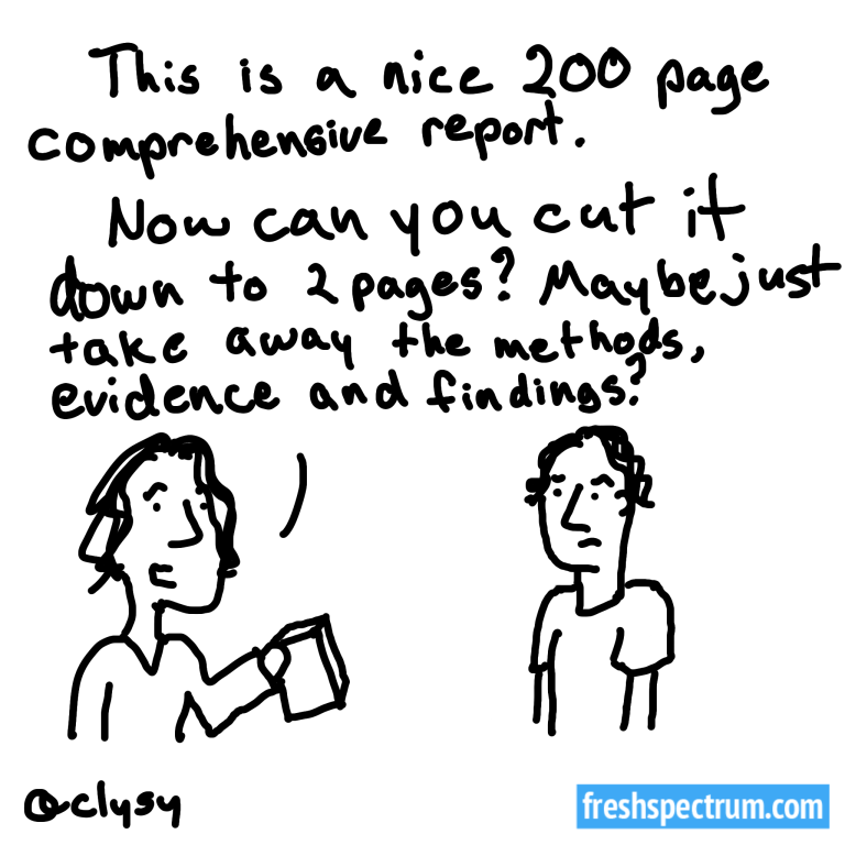 In defense of the 200 page report