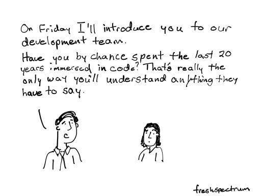 Speaking Developer, inspired by @wesadvance