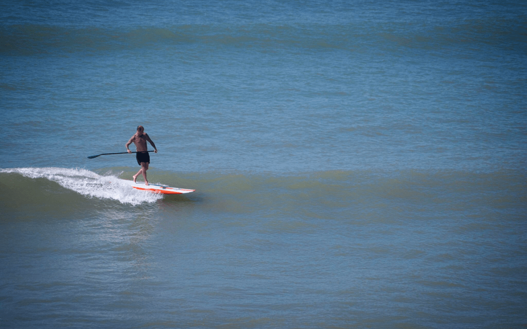 Longboard SUP Surf at Compton Bay, Isle of Wight