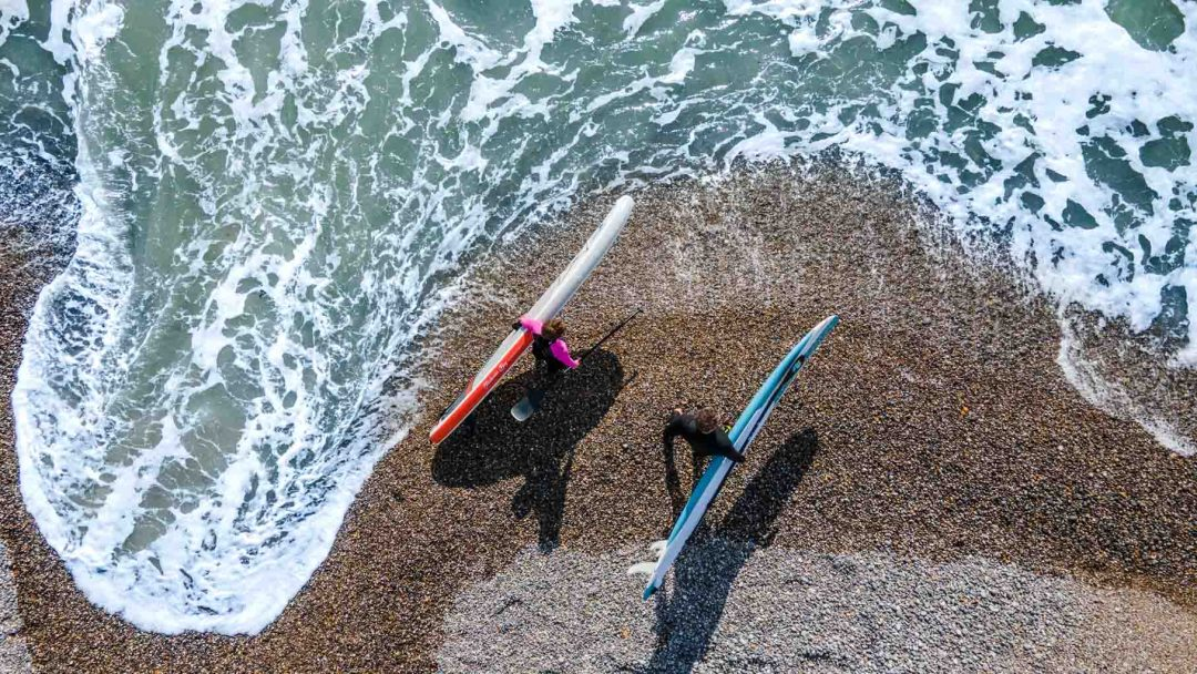 Transition to SUP surfing from flat water
