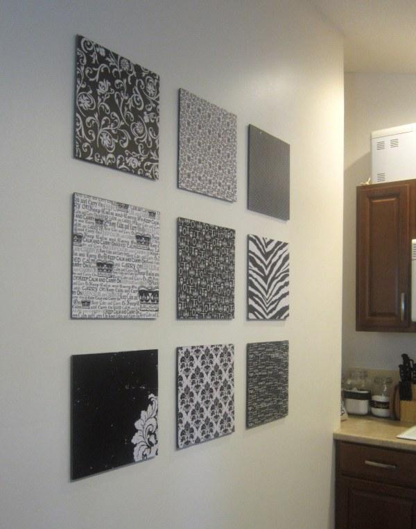 Pinterest DIY Scrapbook Paper Wall Art