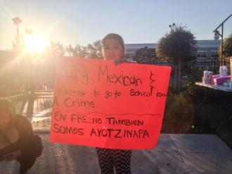 Ayotzinapa Protest in Fresno, CA at Mexican Consulate