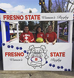 Fresno State Women's Rugby Club booth