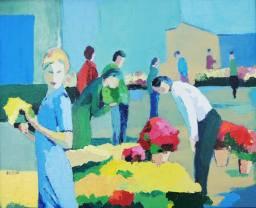 Claire Fresson : Marché aux fleurs