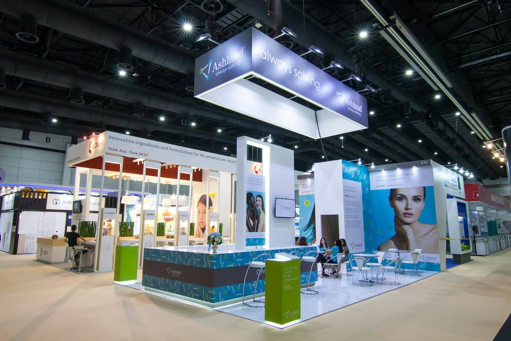 Cosmetic Exhibition Stand Design : Our in cosmetics asia event cosmetic expo thailand booth