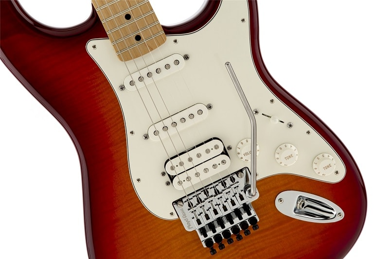 Fender Standard Stratocaster Plus Top with Floyd Rose Tremolo Aged Cherry Burst