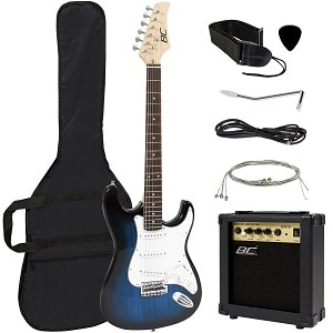 Full Size Blue Electric Guitar Starter Package