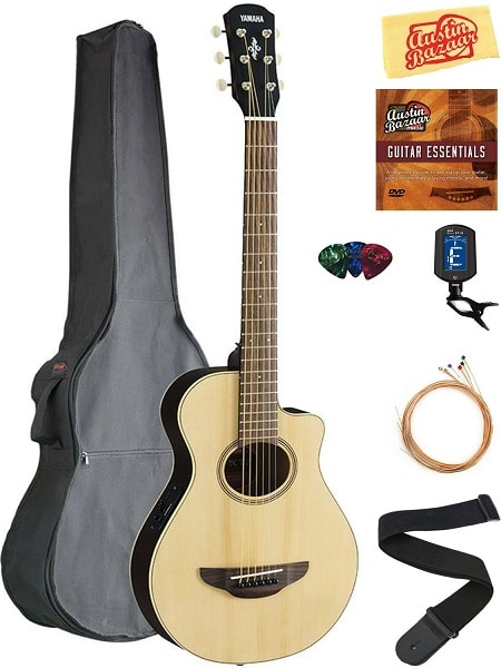 Yamaha APXT2 Acoustic-Electric Guitar (with Gig Bag, Tuner, Strings, Strap, Picks, Austin Bazaar Instructional DVD, and Polishing Cloth)