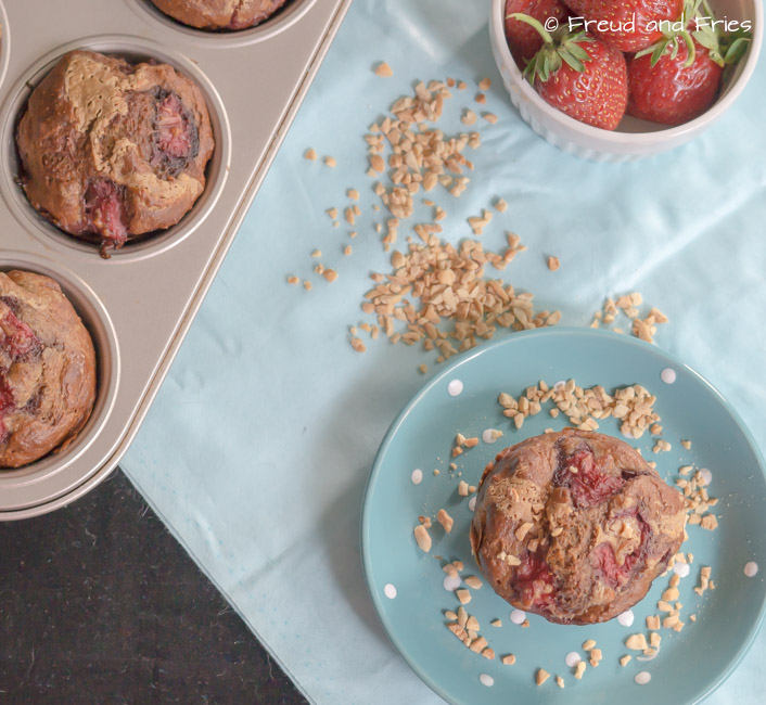 Gezonde PB&J muffins | Freud and Fries