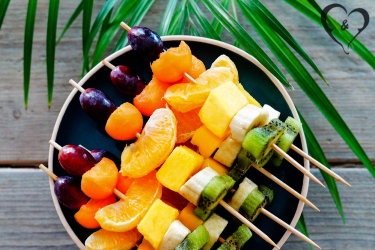 Rainbow fruit kabobs | Freud and Fries