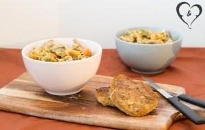 Rijstpannetje met vegetarisch filetlapje   Freud and Fries-1