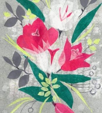 Tulpen Pink Collage 7x9