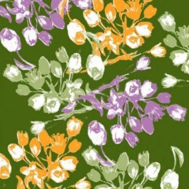 Silk Foulard Tulips