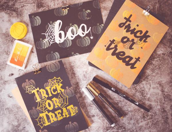 Halloween Einladungskarten selber machen