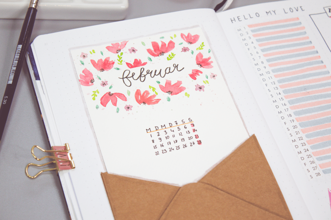 Bullet Journal Thema Blumen