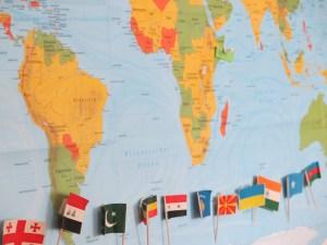 Woher kommen wir? Eine Landkarte zeigt die Herkunftsländer.