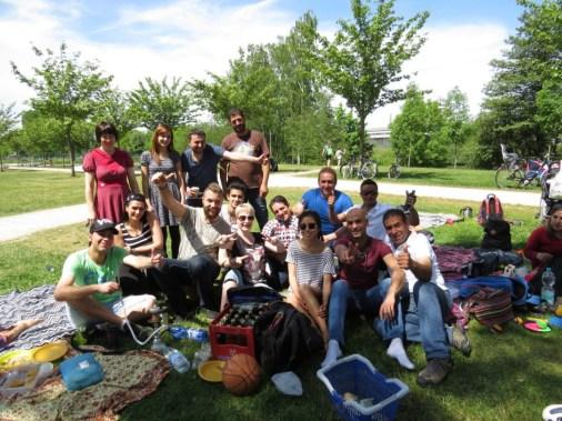 Picknick auf der ERBA-Insel