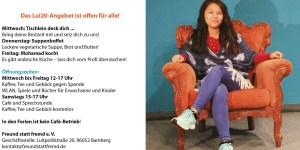 Lui20-Programm-Flyer für Dezember 2019 - auf der U1 in diesem Monat: My-My, Helferin im Café