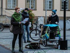 Bamberger Mahnwache Asyl - Frederike Droessler berichtet über Moira