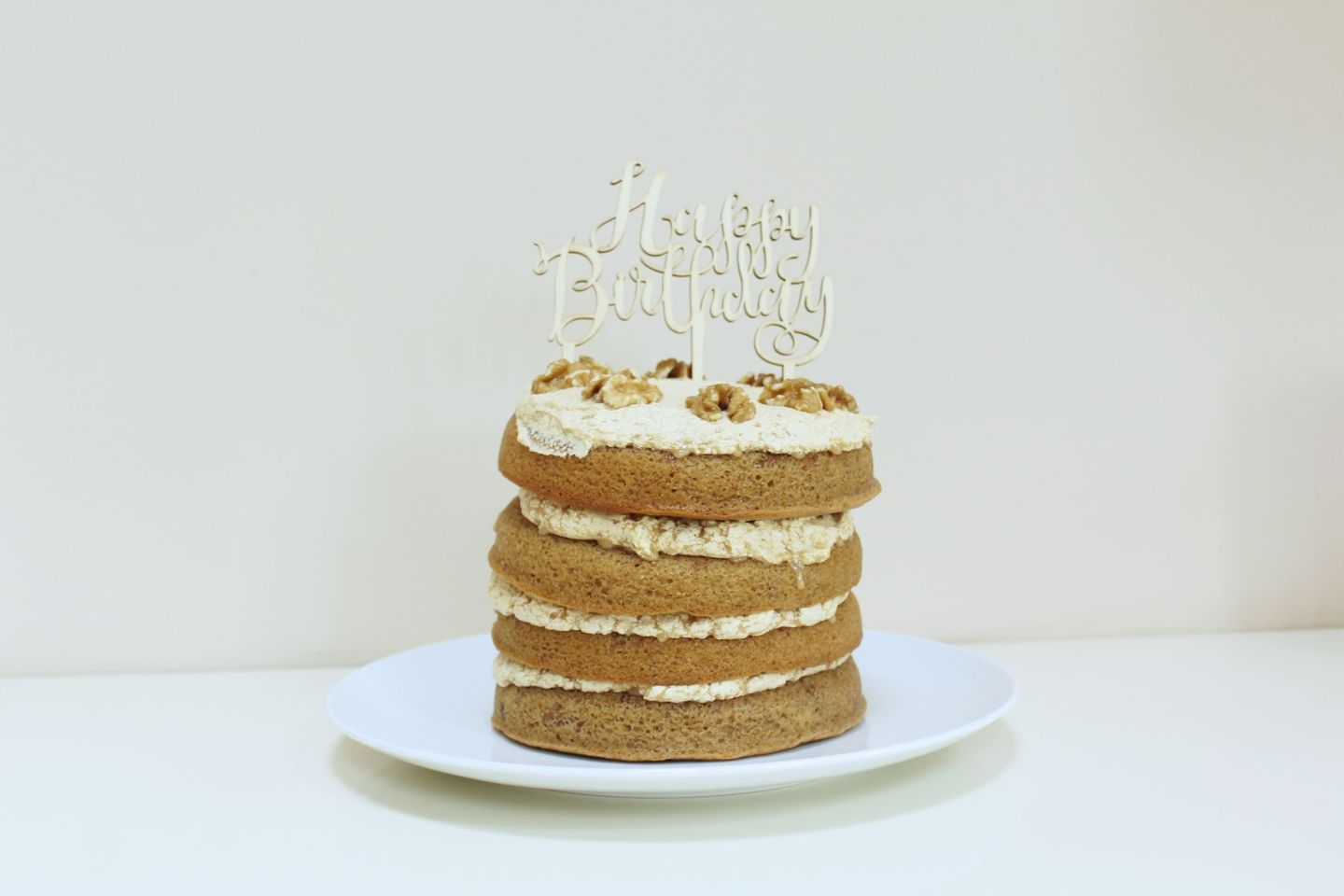 Remarkable Recipe Coffee Walnut Birthday Cake Food Freya Wilcox Funny Birthday Cards Online Elaedamsfinfo